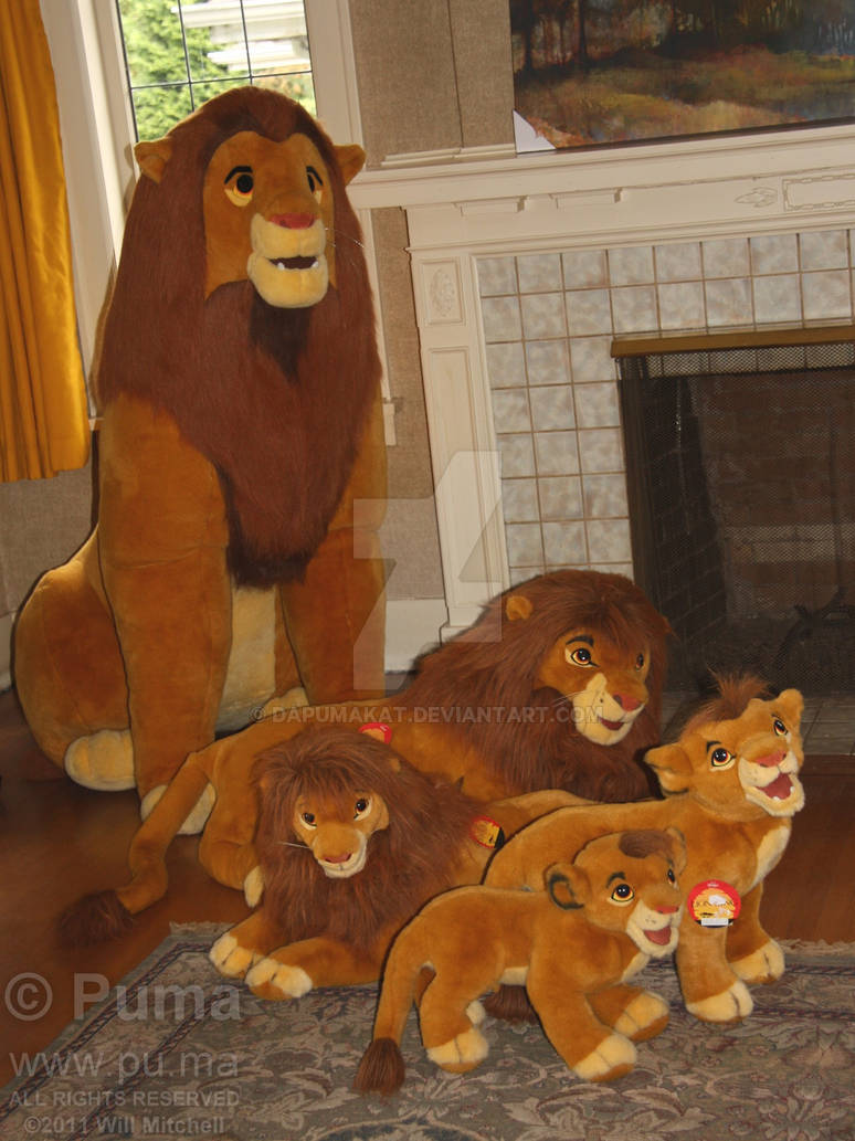 The Lion King - Simba growing up in plush