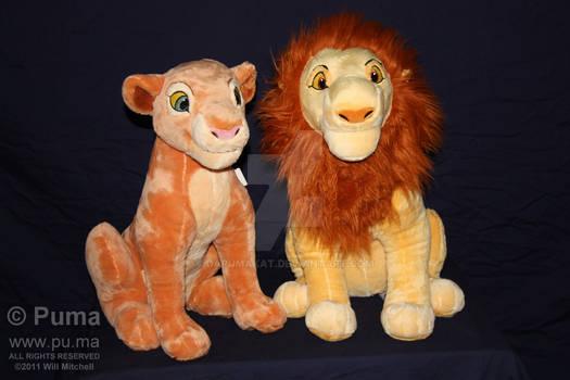Adult Simba and Nala plush