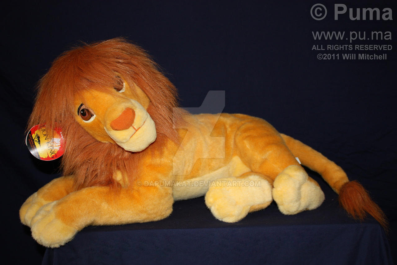 Mattel - Adult Simba Plush by dapumakat