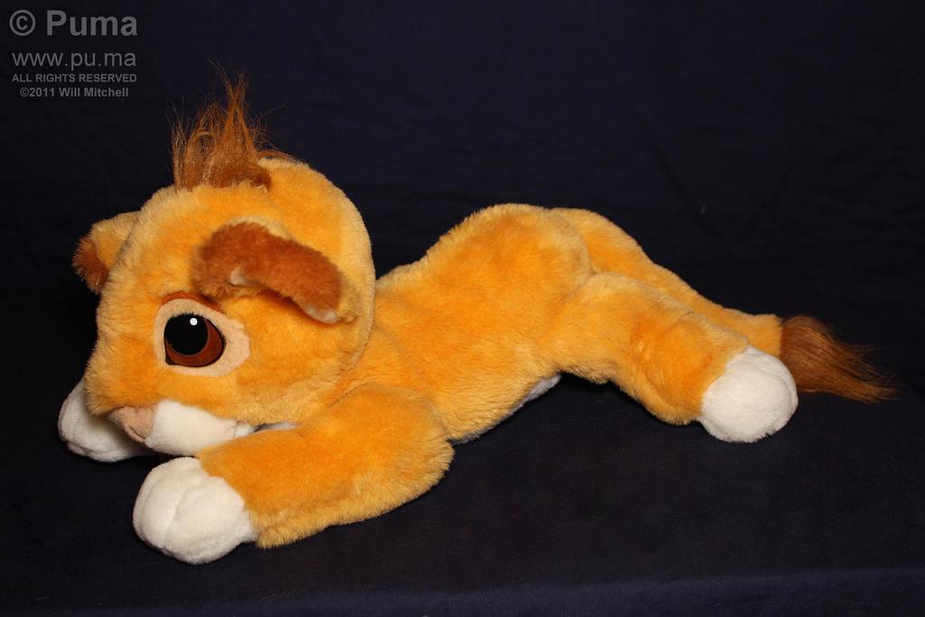 1994 Mattel - Baby Simba plush