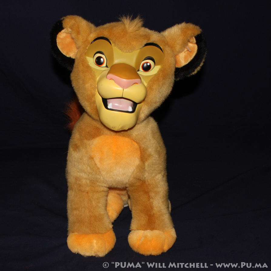 Disneyland Cub Simba plush with vinyl face by dapumakat