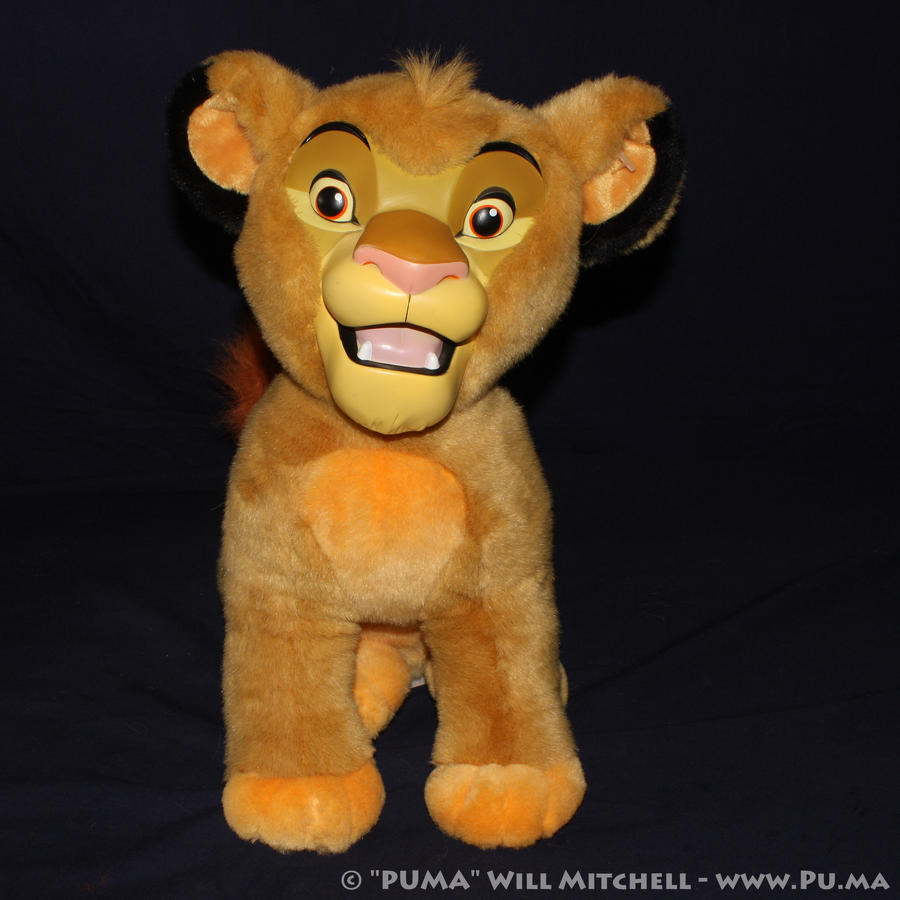 Disneyland Cub Simba plush with vinyl face by dapumakat