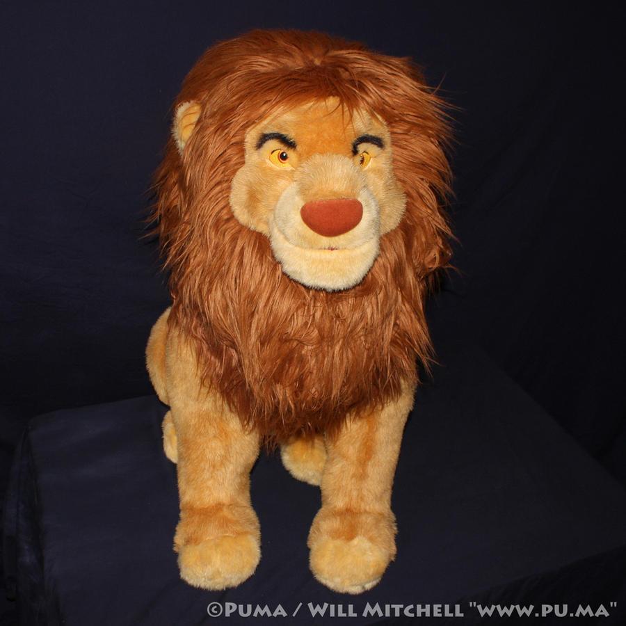 Lion King - Jumbo Simba plush - Disney Store 2003 by dapumakat