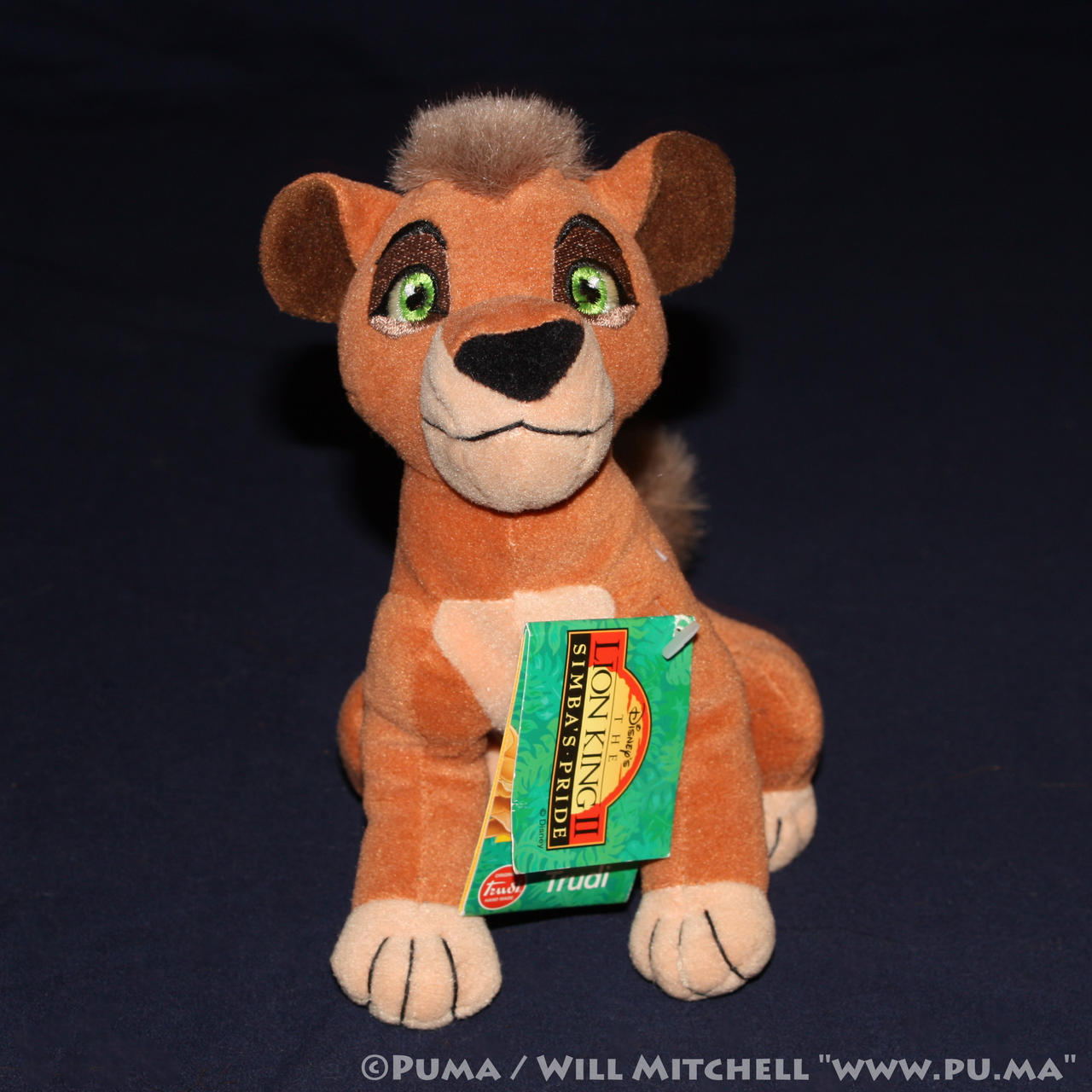 Lion King II - Kovu beanbag plush by Trudi - 1998 by dapumakat