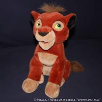 Kovu plush from Disneystore Frankfurt, Germany by dapumakat