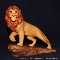 1999 WDCC The Lion King 5th Anniv. Adult Simba by dapumakat