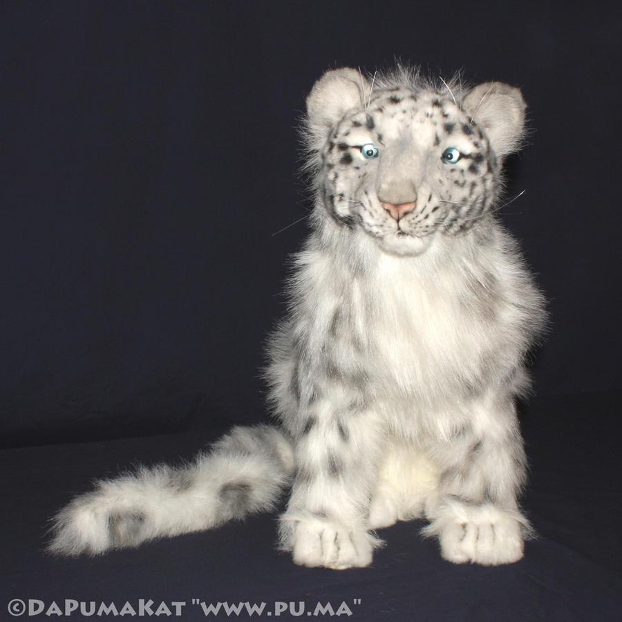 Hansa - Large Snow Leopard Cub plush