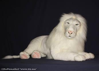 Hansa - Rare Large adult White Lion plush (Kimba)