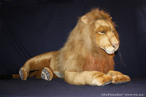 Hansa - Life size adult male Lion plush by dapumakat