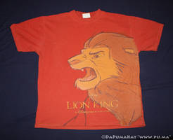 Disneyland Paris - Lion King adult Simba T-shirt by dapumakat