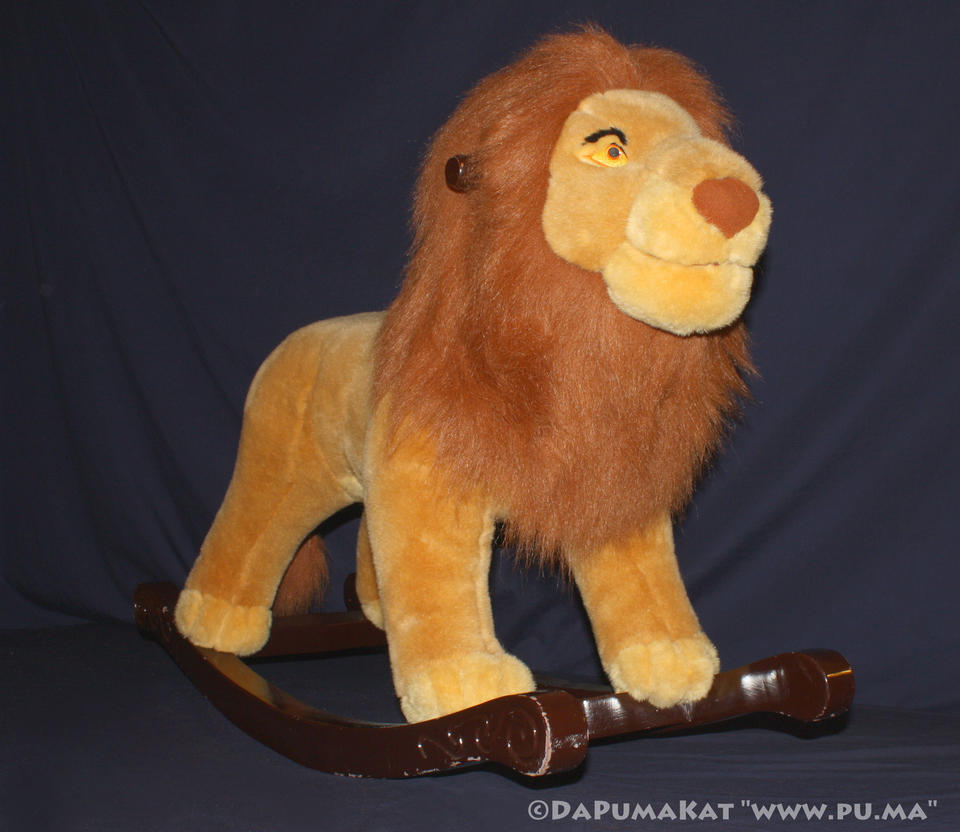 the lion king - adult simba    mufasa rocker
