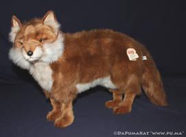 Hansa - Large Red Fox plush by dapumakat