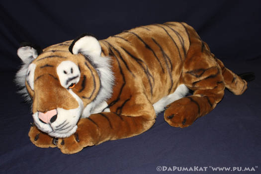 Large laying Bengal Tiger plush by E and J Classic