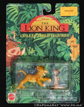 The Lion King - Cub Simba and Timon - Mattel 1994