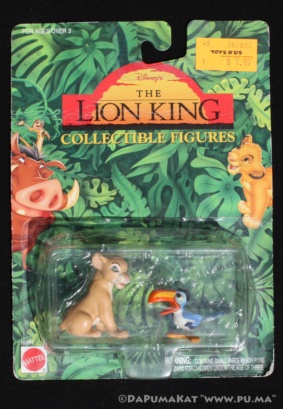 the lion king - young nala and zazu