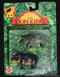 The Lion King - Rhino and Hippo figures by Mattel