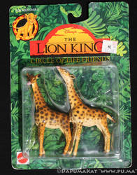 The Lion King - Circle of Life Figures - Giraffes by dapumakat