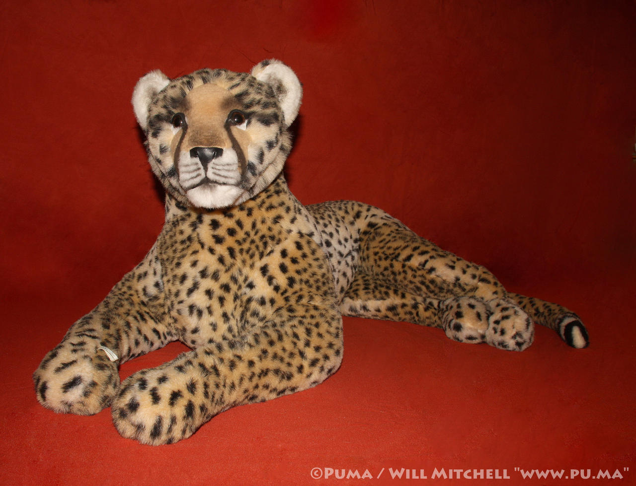 Large Cheetah plush by Jouets Berger from France