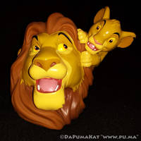 The Lion King - Mufasa and Simba coin bank by PAX by dapumakat
