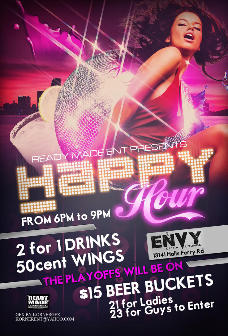 Charming Happy Hour Club Flyer By Numbaz ...