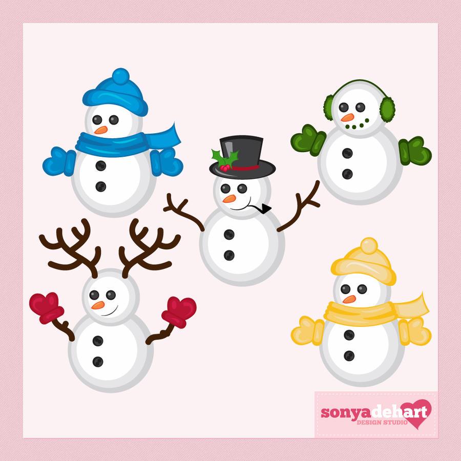 snowman family clip art free - photo #39