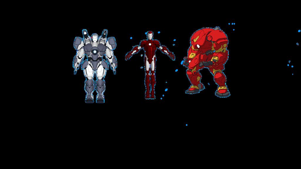 My fav Iron man Armour by Yashlaptop