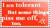 tolerance by vvyk