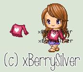 Custom C2U Shirt - Heart Maroon Sweater by xBerrySilver