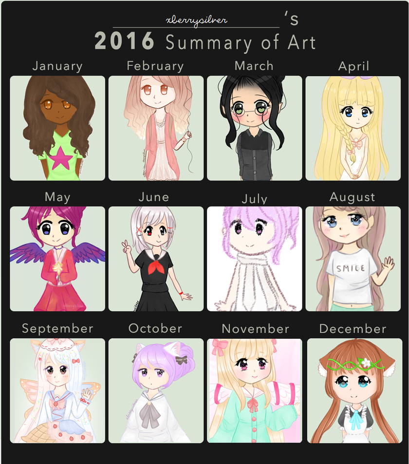 2016: Summary of Art by xBerrySilver
