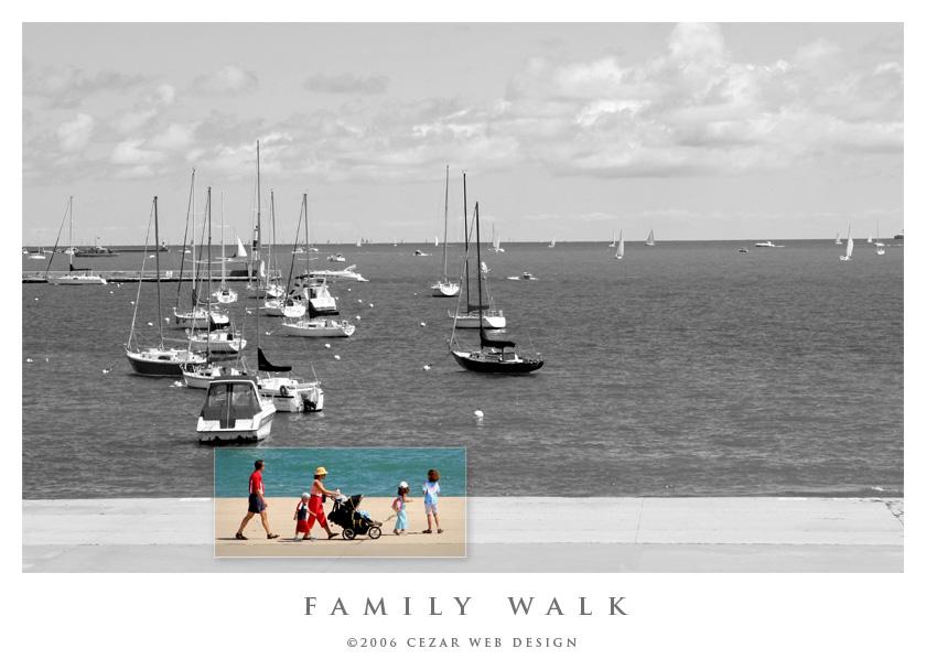 Family Walk by cezars