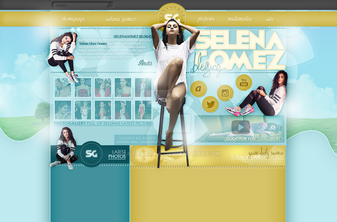 Layout with Selena Gomez by aktakatka