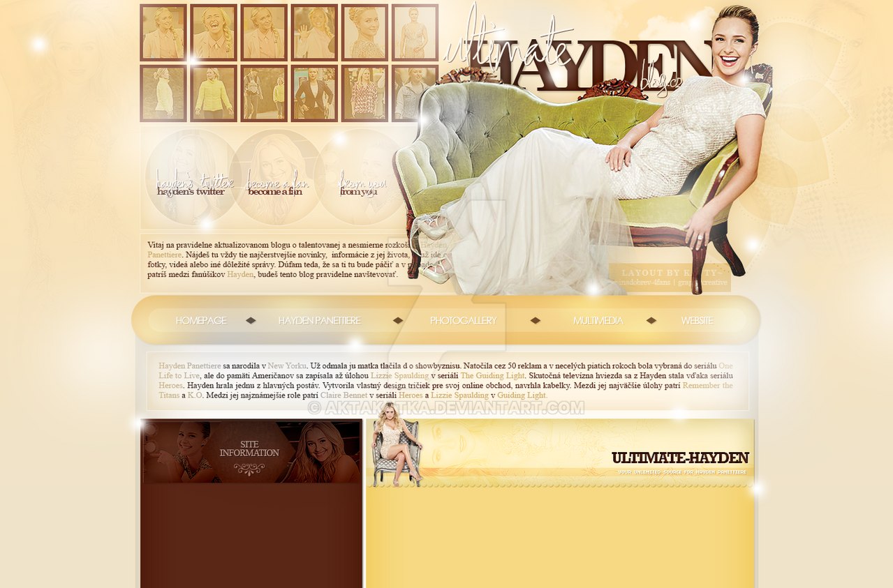 Layout with Hayden Panettiere by aktakatka