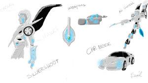 Silvershoot study by xberilx by fembotsunite