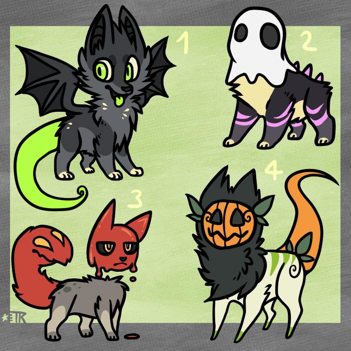 Halloween Adopts by Spashai