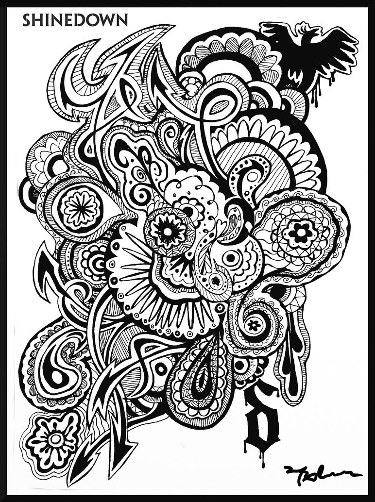 Rock and roll coloring page shinedown by mariffa on deviantart for Rock and roll coloring pages
