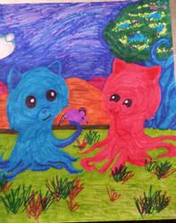 Tentacle Kitty Fanart 3 by Jasper-13