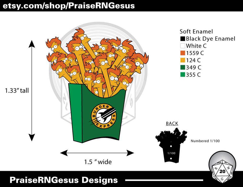 Fry's-Fries Pin by fuzzjp