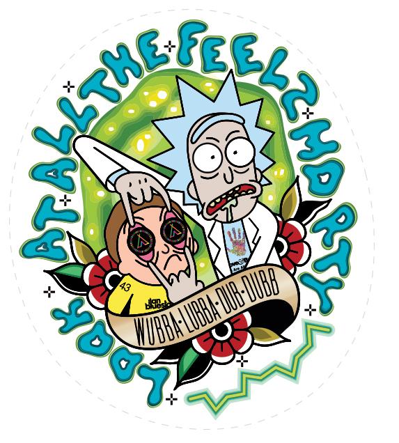 Rick And Morty Anjuna by fuzzjp