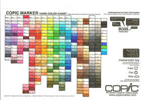 Current Copic Marker Chart by MzzAzn