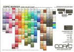 Current Copic Marker Chart