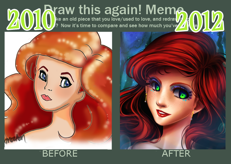 Improvement meme, 2010vs2012 by MzzAzn