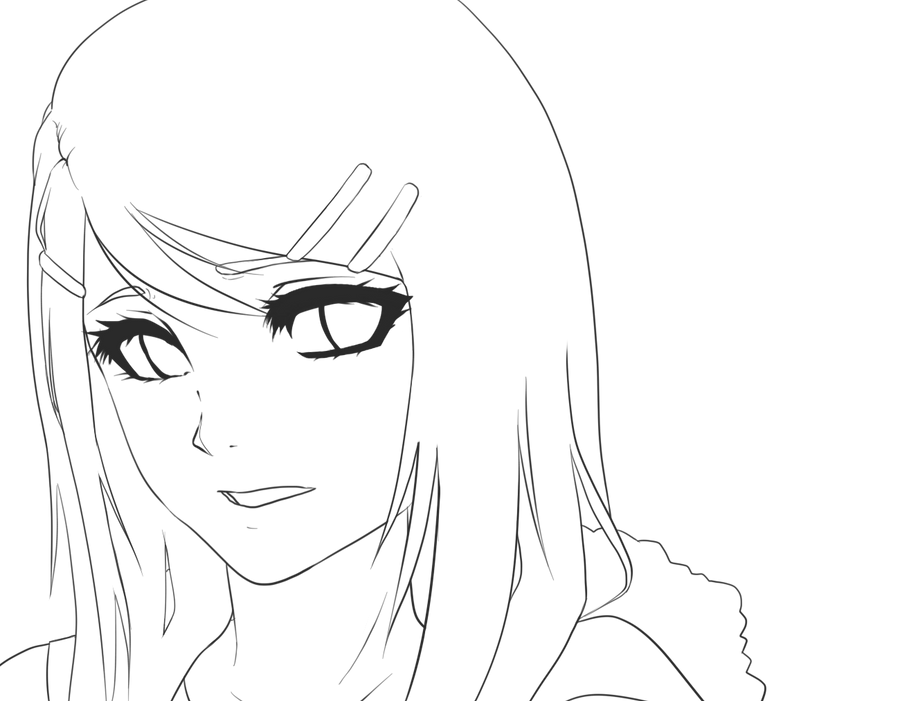 Line Drawing Of Sad Face : Mae reed head shot line art by mzzazn on deviantart