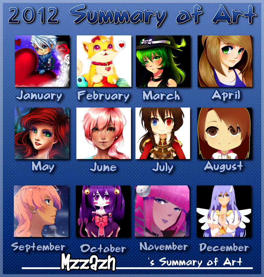 Mzzazn 2012 Art Summary by MzzAzn