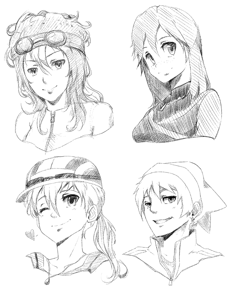 Bust Headshot Examples By Mzzazn On Deviantart