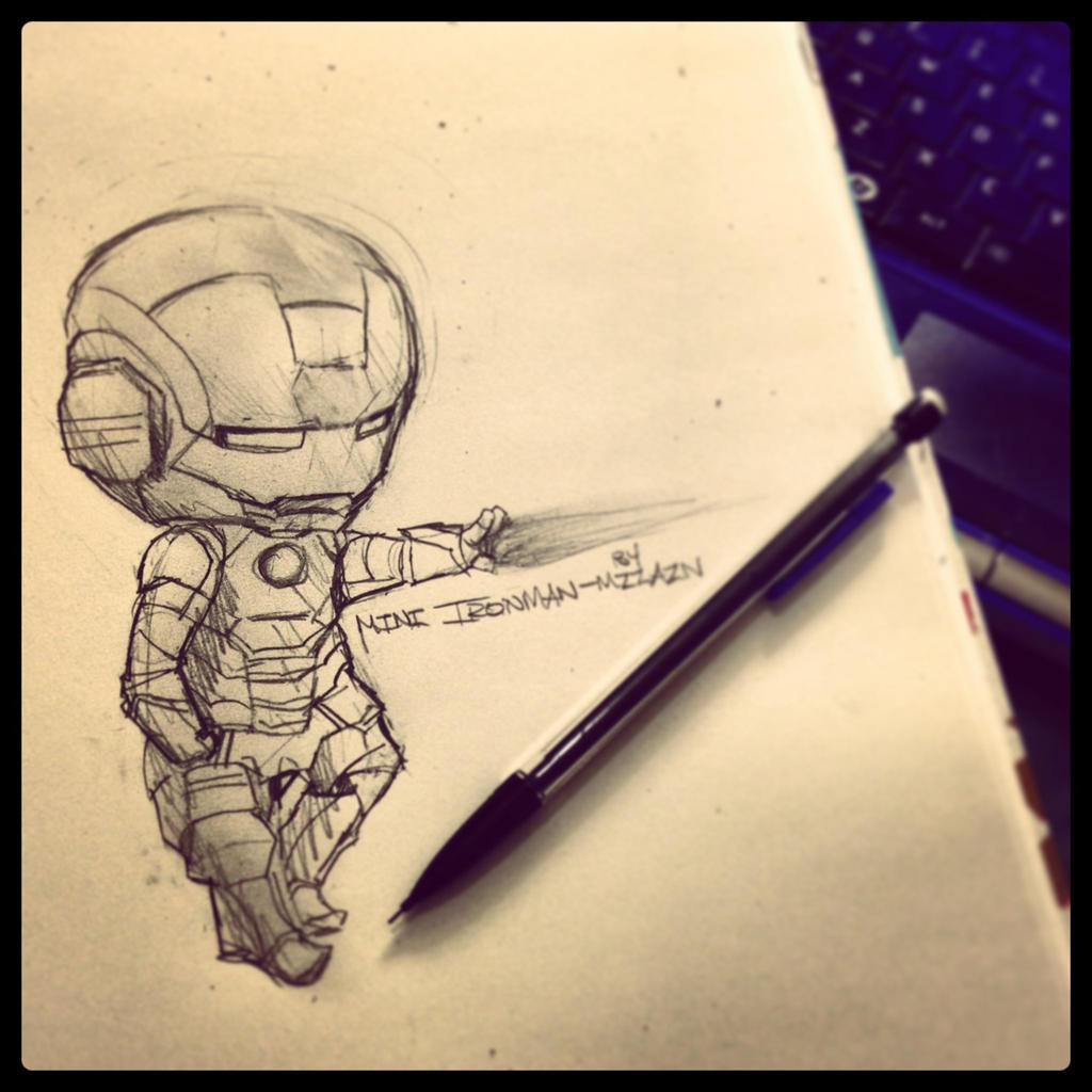 Mini iron man vs mechanical pencil by mzzazn on deviantart - Mini iron man ...