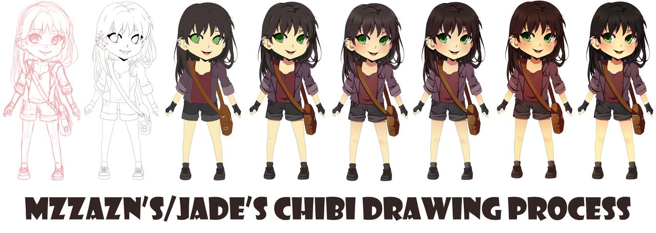 Steps for Chibi Adelaide by MzzAzn on DeviantArt
