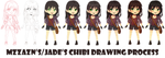 Steps for Chibi Adelaide by mzzyarts