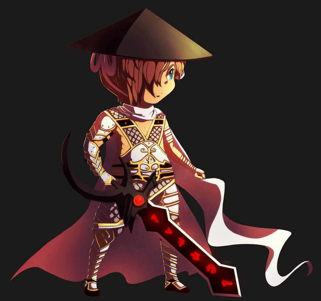 Detailed White Knight Semi Chibi by MzzAzn