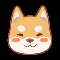 Cute Shiba Inu Doggo Head
