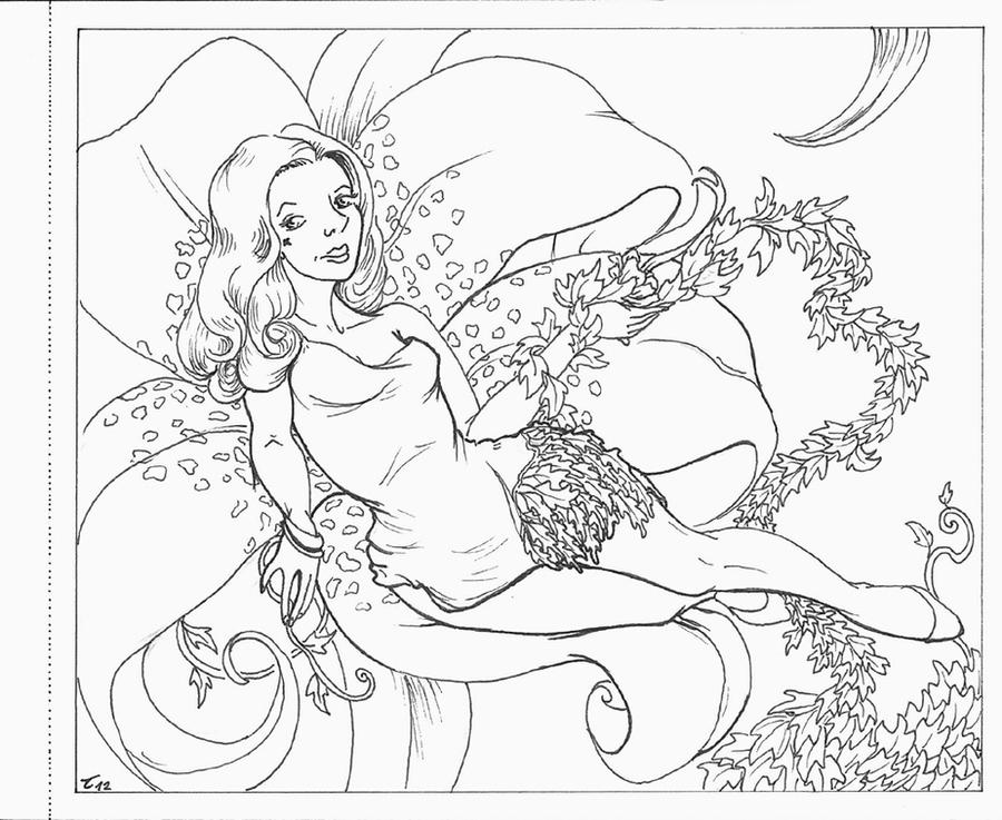 Poison Ivy Free Coloring Pages Poison Coloring Page